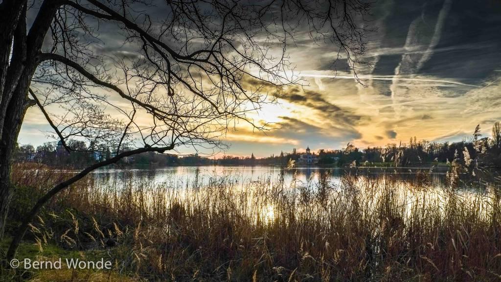 Potsdam  Heiliger See Abendstimmung