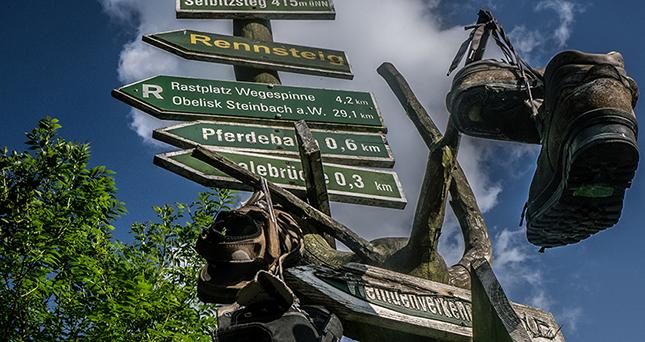 Wandern auf dem Rennsteig in Thüringen