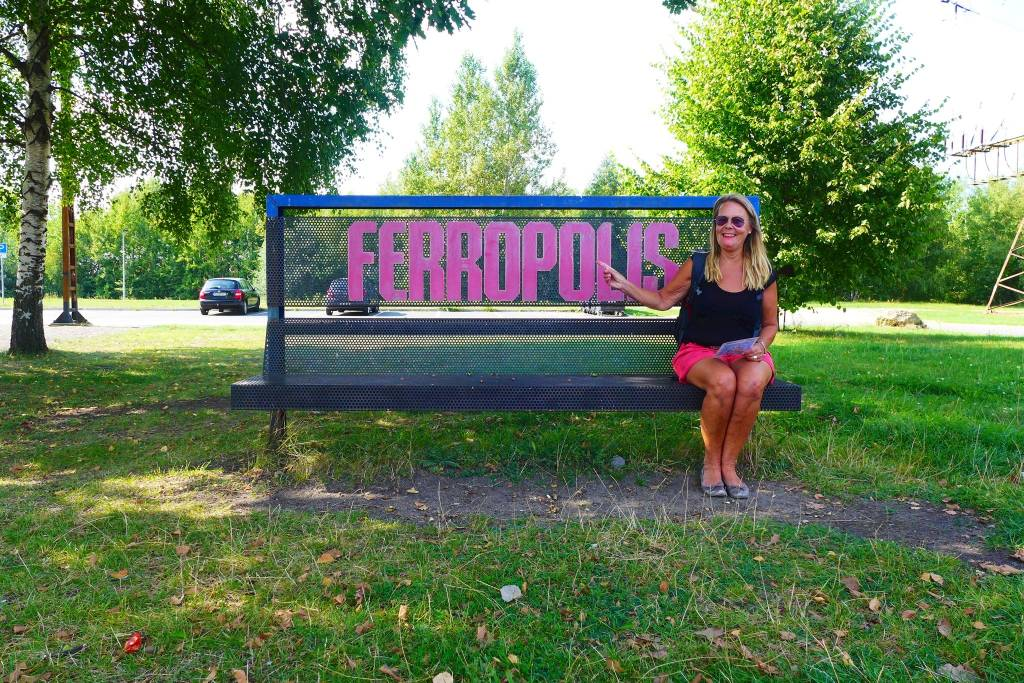 Ferropolis, Stadt zum Anbaggern