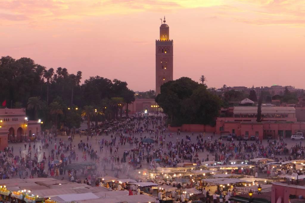 Marrakesch in Szene gesetzt