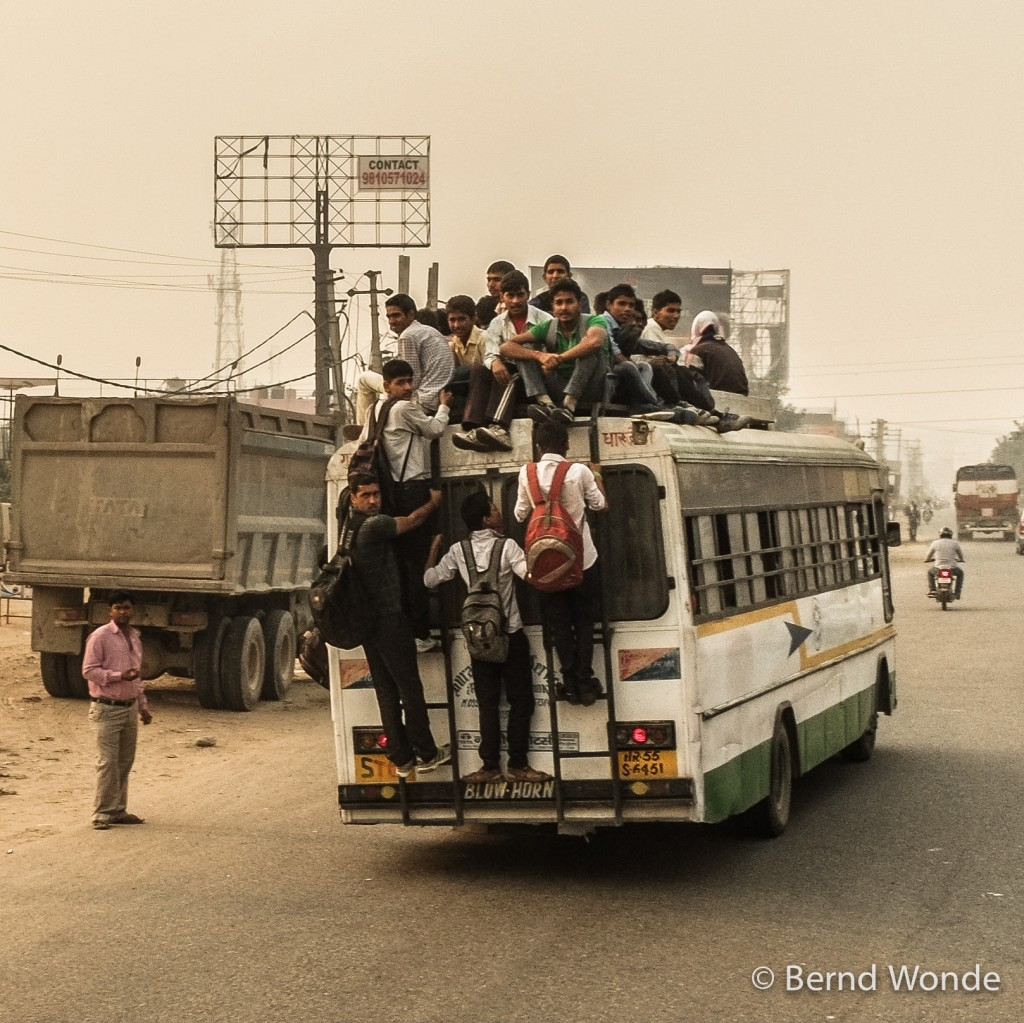Fotoreise Indien - Rush-Hour Stadtbus