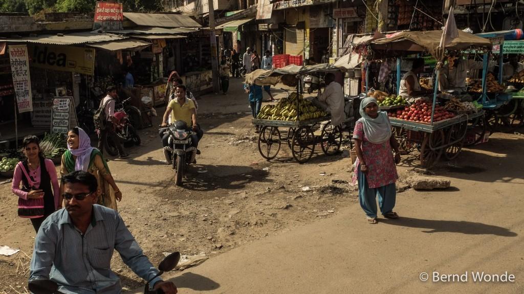 Fotoreise Indien - Ein Straßenmarkt in einer Kleinstadt
