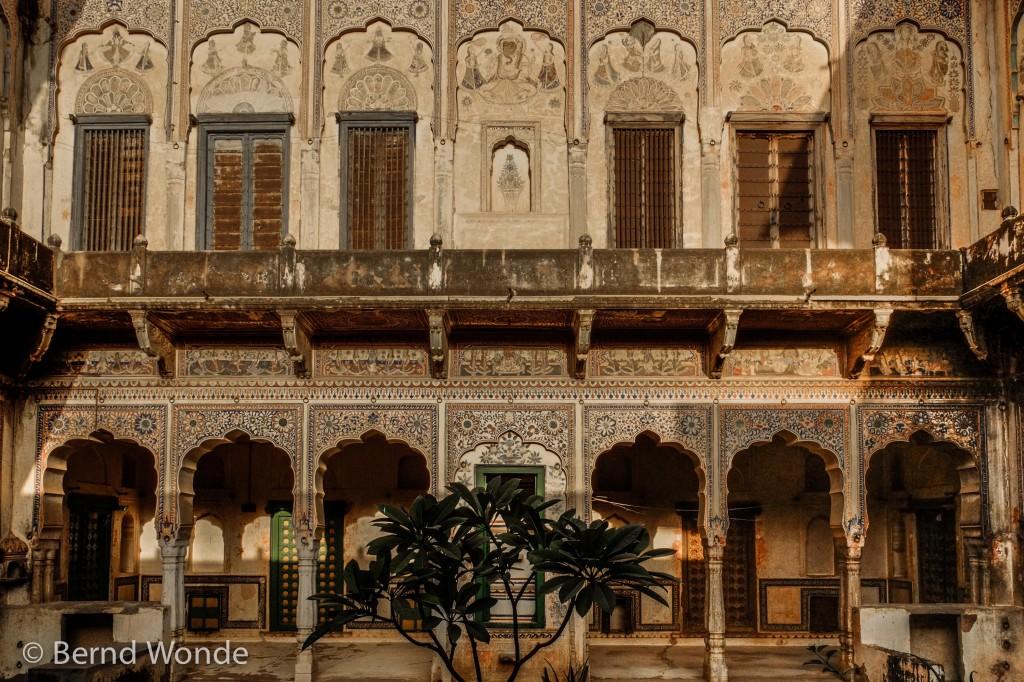 Fotoreise Indien - Innenhof eines Haveli-Hauses