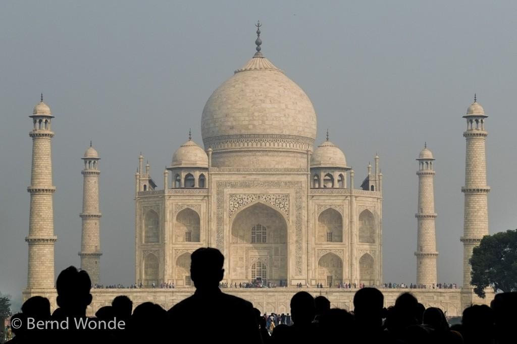 Indiens berühmtestes Wahrzeichen, der Taj Mahal