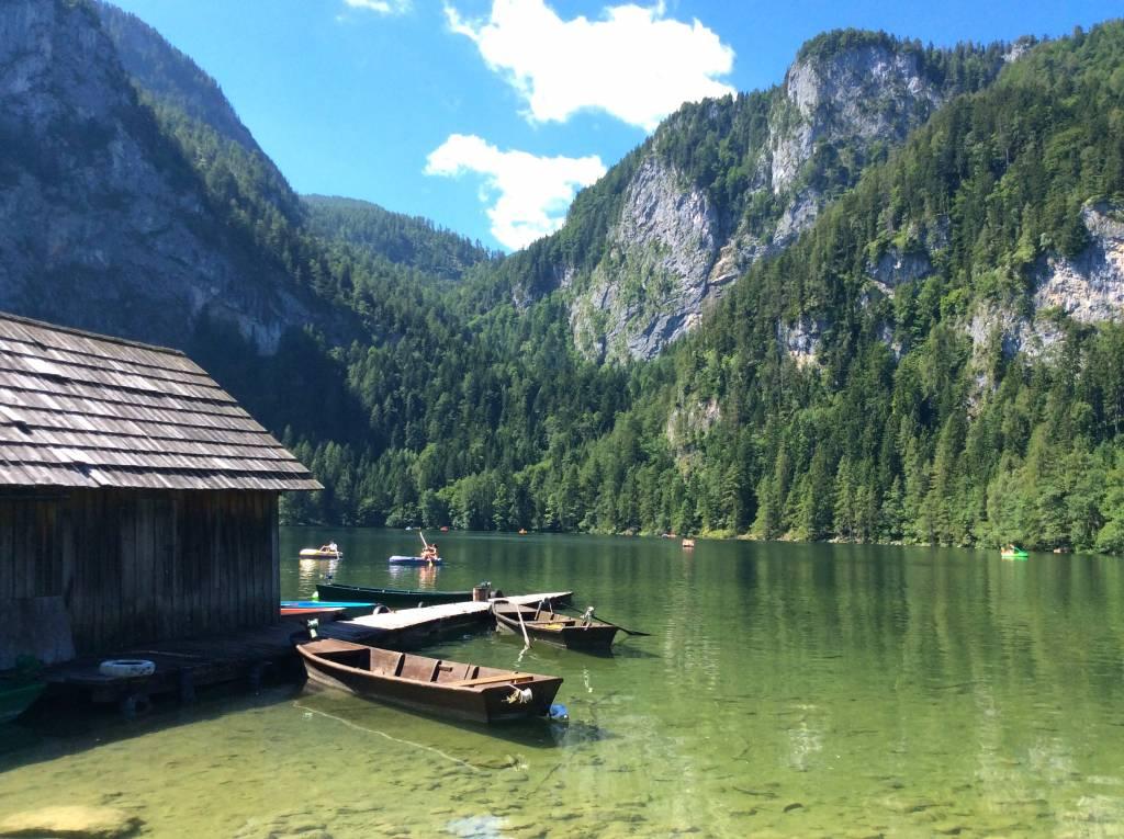 Der Gleinkersee liegt 804 Meter hoch im Herzen der Urlaubsregion Pyhrn-Priel