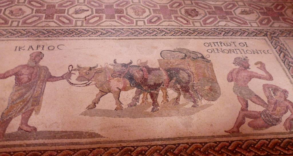 Mosaik im Archäologischen Park von Paphos Foto: copyright M.Persian