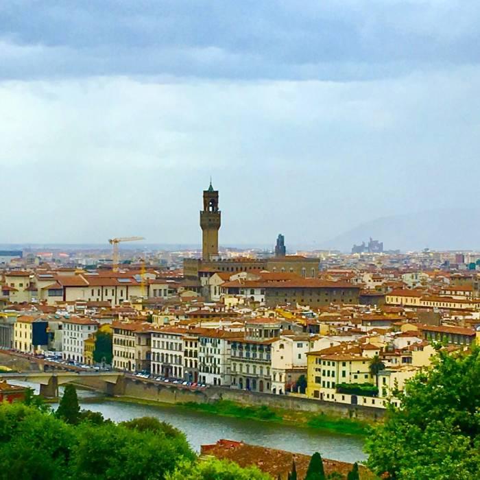 Ein letzter Blick über Florenz und den Arno - bis bald!
