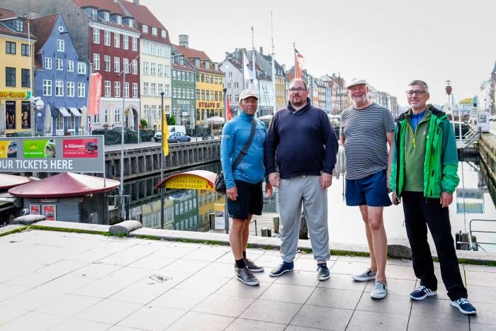 Und das ist die Crew: Bernd, Daniel, Lutz II, und Hansjürgen