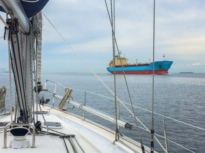 Frachter auf dem Weg in den östlichen Teil der Ostsee