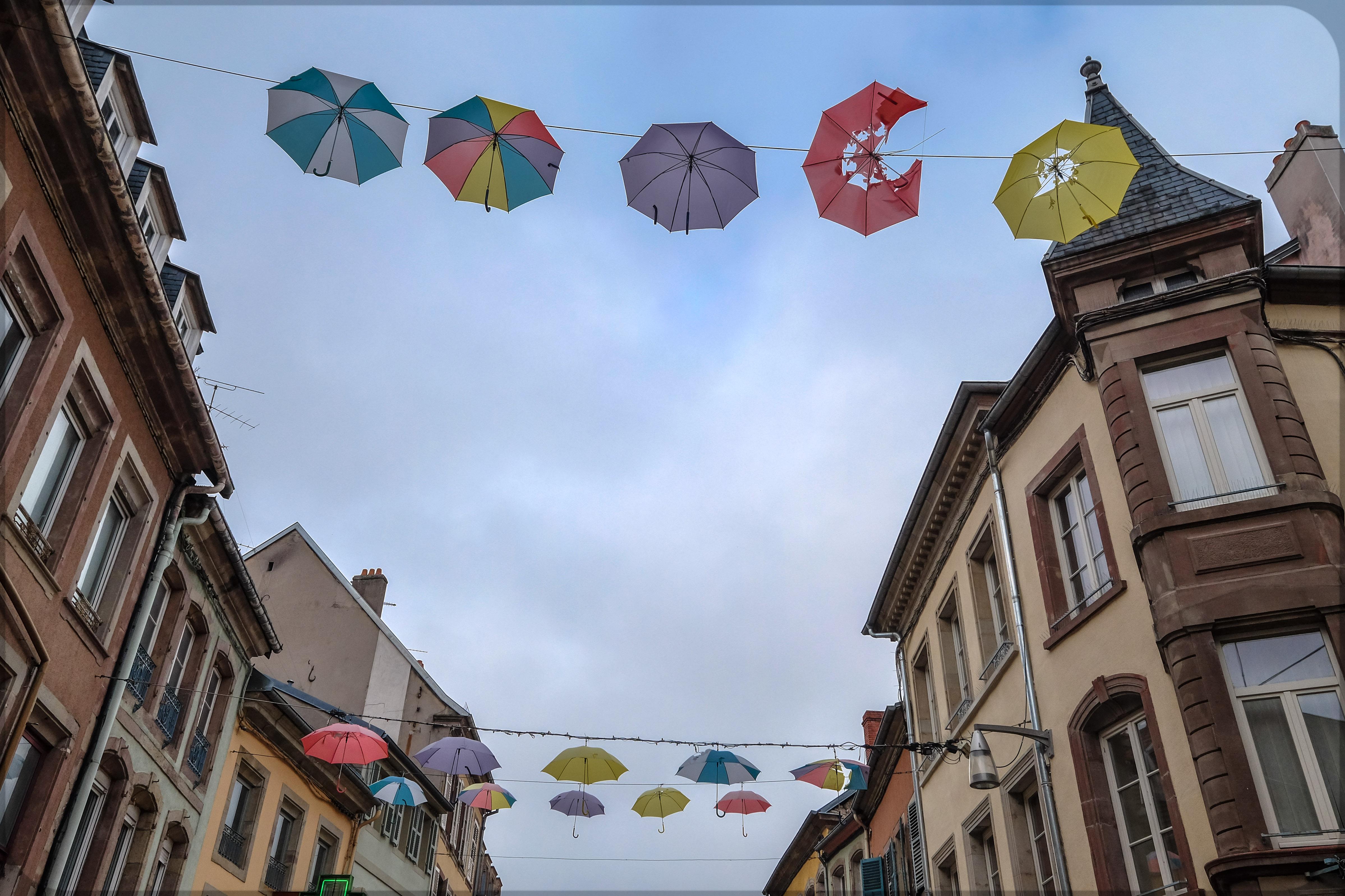 Schirme von der Stange